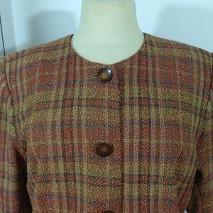 Vintage Sag harbor suit size 12 plaid